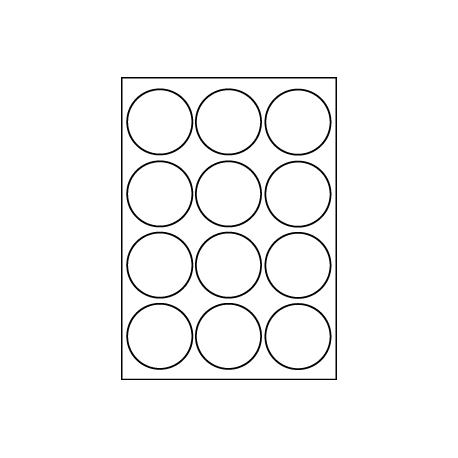 Etiquettes rondes diamètre 63,5 mm