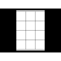 Planche A4 étiquettes 70 x 70 mm