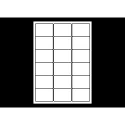 Planche A4 étiquettes 63,5 x 46,6 mm