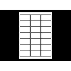 Planche A4 étiquettes 63,5 x 38,1 mm