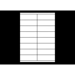 Planche A4 étiquettes 105 x 35 mm