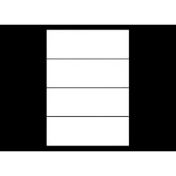 Planche A4 étiquettes 210 x 74,2 mm