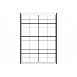 Planche A4 étiquettes 50 x 25 mm