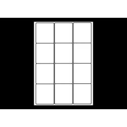 Planche A4 étiquettes 63,5 x 72 mm