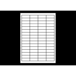 Planche A4 étiquettes 48,3 x 16,9 mm