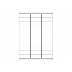 Planche A4 étiquettes 70 x 25 mm