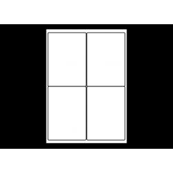 Planche A4 étiquettes 99 x 139 mm