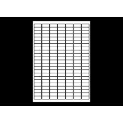 Planche A4 étiquettes 25 x 12 mm