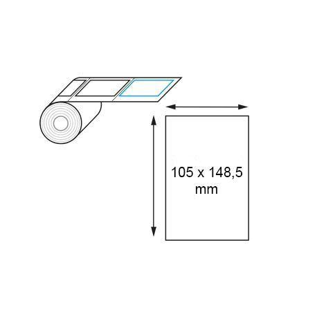 Étiquette thermique direct 105 x 148,5 mm en rouleau
