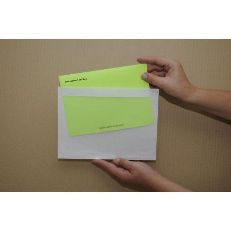 Pochettes adhésives transparentes porte-document