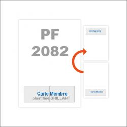 A4 carte membre intégrée plastifiée BRILLANT