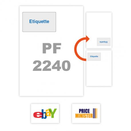 étiquette intégrée compatible Ebay et Price minister