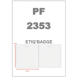 Etiq'badge |Badge  - 170 x 85mm - Plastifié brillant